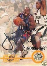 1997 PRESS PASS ROOKIE AUTO CARD: JACQUE VAUGHN - AUTOGRAPH KANSAS/UTAH JAZZ