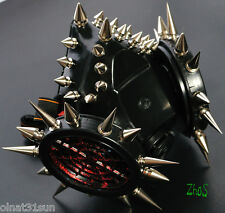 Black Cyber Mask Gothic Respirator Gas Mask Goth 44 LOVE Spikes Fetish MAD larp