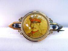 Gold Doublé Brosche mit Foto 1.Weltkrieg Soldat mit Uniform