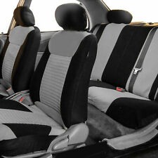 Seat Covers For Car SUV Van Auto Gray Black Full set for Auto Full Set Most Cars