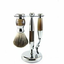 Edwin Jagger 3pc. Mach3 Pure Badger Shaving Brush w/ Stand