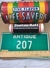 VTG Life Savers Tin PIGGY Bank Beech-Nut Inc TIN METAL ADVERT Free Tootsie Roll