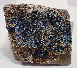 LAZULITE SIDERITE FLUORAPATITE RARE Fine Crystals  Mineral Specimen Yukon Canada
