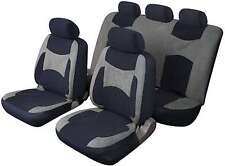 LAGUNA SECA UNIVERSAL FULL SET SEAT PROTECTOR COVERS GREY & BLACK FOR OPEL