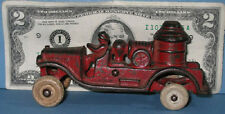 "AUTHENTIC OLD CAST IRON TOY FIRE TRUCK PUMPER 4 1/2"" *&  NOW ON SALE * CI 274"