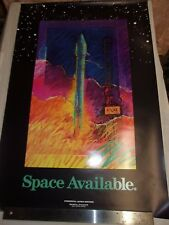 POSTER - SPACE AVAILABLE / COMMERCIAL LAUNCH SERVICES - GENERAL DYNAMICS / USA