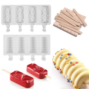 Silicone Geometric Cakesicle Mould Popsicle Lolly Frozen Dessert Maker Cake Mold