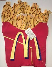 McDonalds French Fries Kids Halloween Costume Age 2-4 New