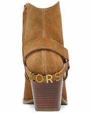 MICHAEL KORS GOLDIE Acorn HARNESS LOGO COWBOY ANKLE BOOTS US 11 I LOVE SHOES