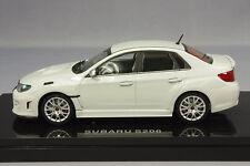 1 43 EBBRO Model SUBARU Impreza WRX STi S206 4 doors White 2012