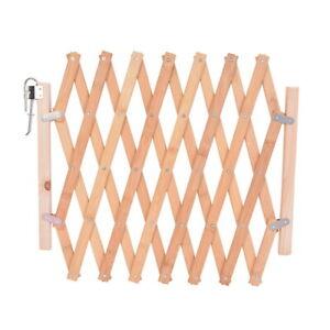 Retractable Door Gates Wood Screen Doorways Dog Pet Safety Expanding Fence Patio
