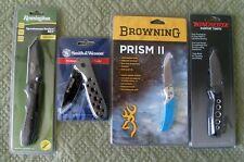 Four Gun Manufacturer Branded Knives - New