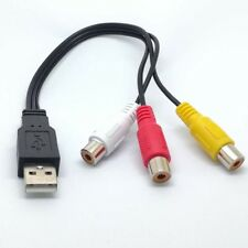 USB Male to 3 Rca RGB Female Video AV A/V Converter Cable HDTV TV Television  s