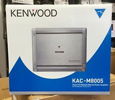 Kenwood KAC-M8005 5ch Marine Amplifier w 75W x4 500W x1 RMS Power 2ohms KACM8005