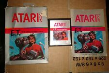 E.T.  ! PAL ! BOXED WITH MANUAL ! FOR ATARI 2600 + 7800 ! TESTED !