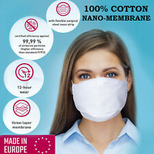 New listing 99.99 Virus Protection 100% Cotton Certified Washable Reusable Triple Face Mask
