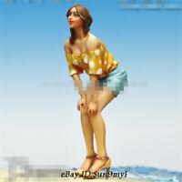 1/24 Beach sun skirt girl Resin Kits Unpainted Figure Model GK Unassembled