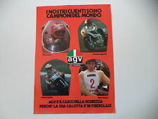 advertising Pubblicità 1975 CASCO AGV e NIKI LAUDA/GIACOMO AGOSTINI/HARRY EVERTS