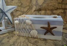 Starfish Sea Ocean style Wooden Tissue Box Paper Cover Napkin Holder Home Decor