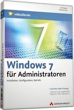 video2brain Windows 7 für Administratoren, 11 Stunden Video-Training auf DVD NEU
