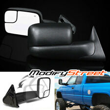 FOR 94-01 DODGE RAM 1500/94-02 2500/3500 MANUAL LH/RH FLIP-UP TOW SIDE MIRRORS