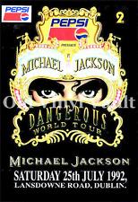 Michael Jackson Concert Poster Lansdowne Road Dublin 1992 A3 size repro..