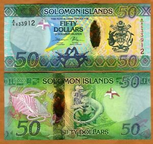 Solomon Islands, $50 ND (2013), P-35 Hybrid Polymer, UNC