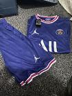 PSG Home Shirt 2021/22 Paris Saint-Germain Football (Top&Shorts) SIZE Large