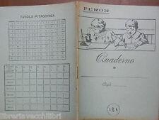 Vecchio quaderno scolastico di scuola d epoca FUROR TAVOLA PITAGORICA F R N
