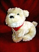 "AMERICAN GIRL's 11"" White Plus stuffed Puppy Dog ""COCONUT"" w/ Scarf"