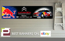 Citroen Red Bull Rally Car Banner XL for Workshop, Garage Sebastien Loeb DS3 DS4