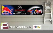 Citroen Red Bull Rally Car Banner XL for Workshop, Garage Sebastien Loeb DS3 DS4