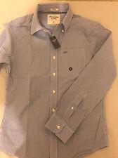 Abercrombie para Hombres Camisa Azul Pequeña Nuevo con etiquetas