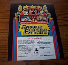 Knuckle Bash Arcade Flyer Original Atari Nos Video Game Promo Artwork 1993