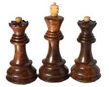"""Zagreb Historical Chess Set King 3.9"""" 2 Queens Extra, Wooden Weighted Set"""