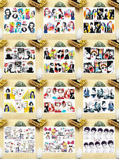 12 Sheets Nail Art Water Transfer Decal Stickers Fashion Girl YB673-684
