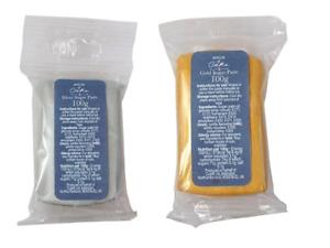 House of Cake Oro Metallico/Argento Pasta di Zucchero Glassa 100g