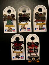 Pittsburgh Steelers Peter David NFL Superbowl Pins- All 5, Rare Collectors Set!
