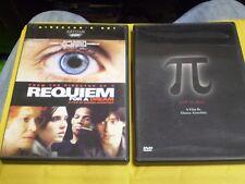 (2) Darren Aronofsky Dvd Lot: Pi & Requiem for a Dream w/Original Inserts