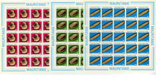 Mauritania Stamps #545-7 Nh Imperforate Set Complete Sheets