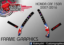 HONDA CRF 150R 2007-2016 FRAME PROTECTION GRAPHICS STICKERS MOTOCROSS DECALS MX