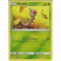 Weedle 3/181 - Common Reverse Holo Card - Pokemon Sun & Moon Team Up SM-9 TCG