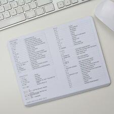 Apple Tastenkürzel Shortcuts Deutsch Mousepad Mauspad El Capitan OS X Weiss