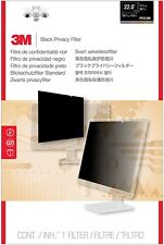 """3M Blackout Frameless Privacy Filter for 22"""" Widescreen LCD Monitor 16 10"""