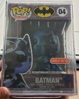 Funko POP! Art Series DC BATMAN #04 Blue Camo TARGET Exclusive - Hard Stack Case