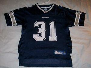 Roy Williams 31 Dallas Cowboys NFL Blue Reebok Scr Print Boy's Large 14-16 used