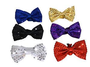 Sequin Bow Tie School Prom Bow Ties Black Sequin Bow Ties Dancewear Fancy Dress