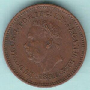 PORTUGESE INDIA 1884 LUDOVICUS I OITAVO DE TANGA