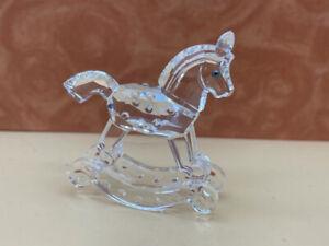 """Swarovski Figurine 183270 Rocking Horse 6,8 """" Top"""