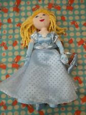 """Marks & Spencers  Cinderella """" 9"""" approx  Soft Toy Plush Comforter Rag Doll VGC"""